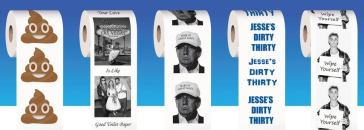 custom printed toilet paper