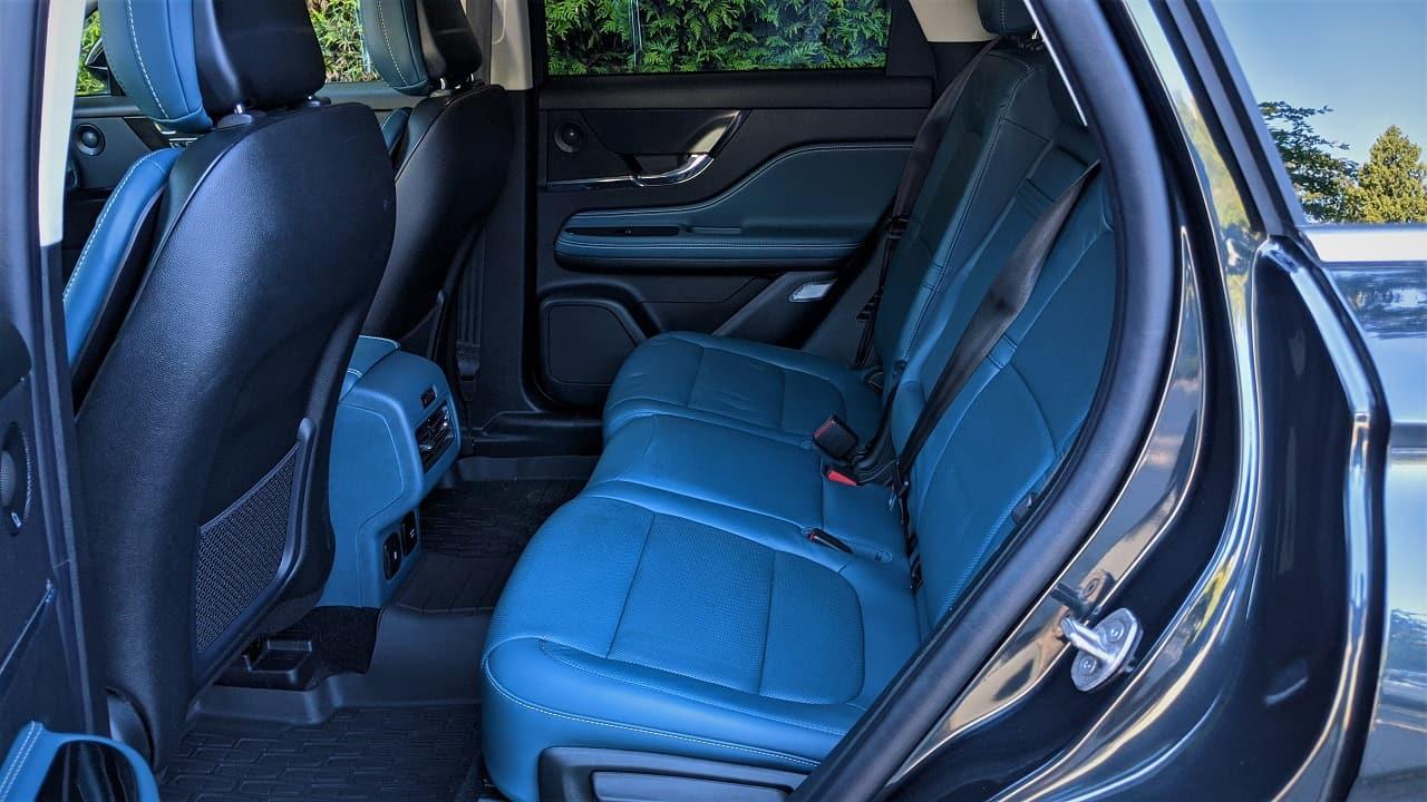 Lincoln Corsair rear seats