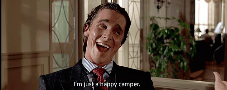 happy camper american psycho