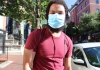 person wearing covid mask