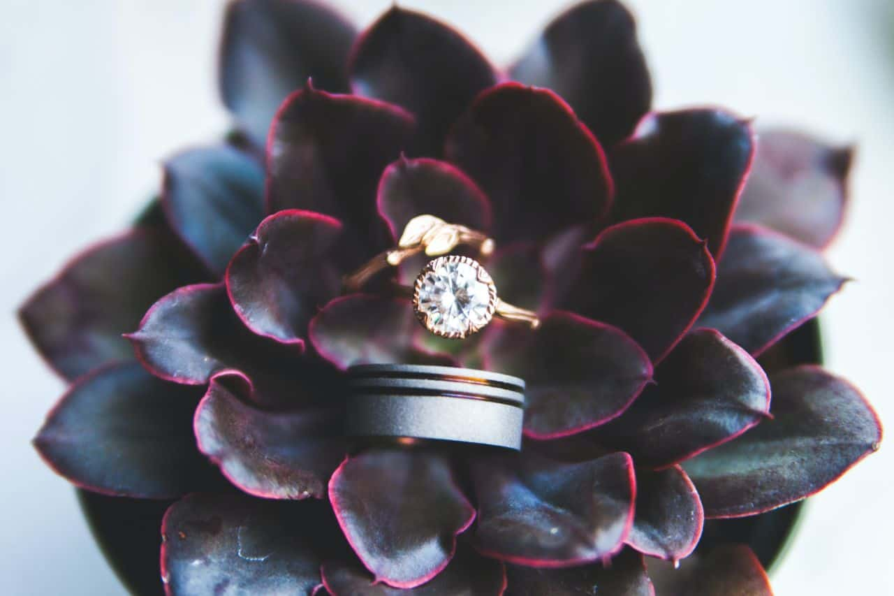 ring inside flower