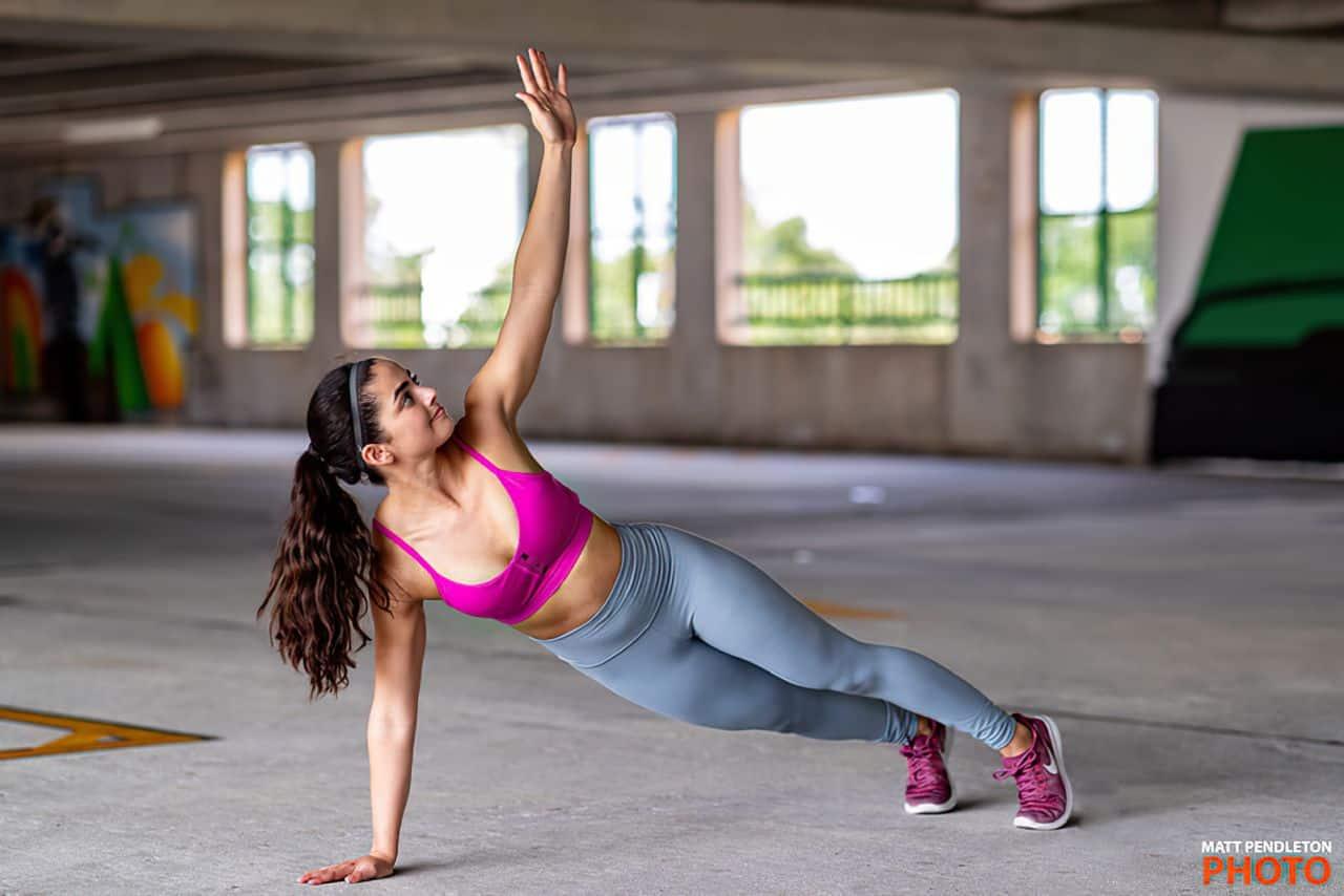 sexy yoga pants on woman