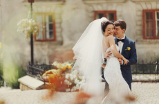 wedding couple happy