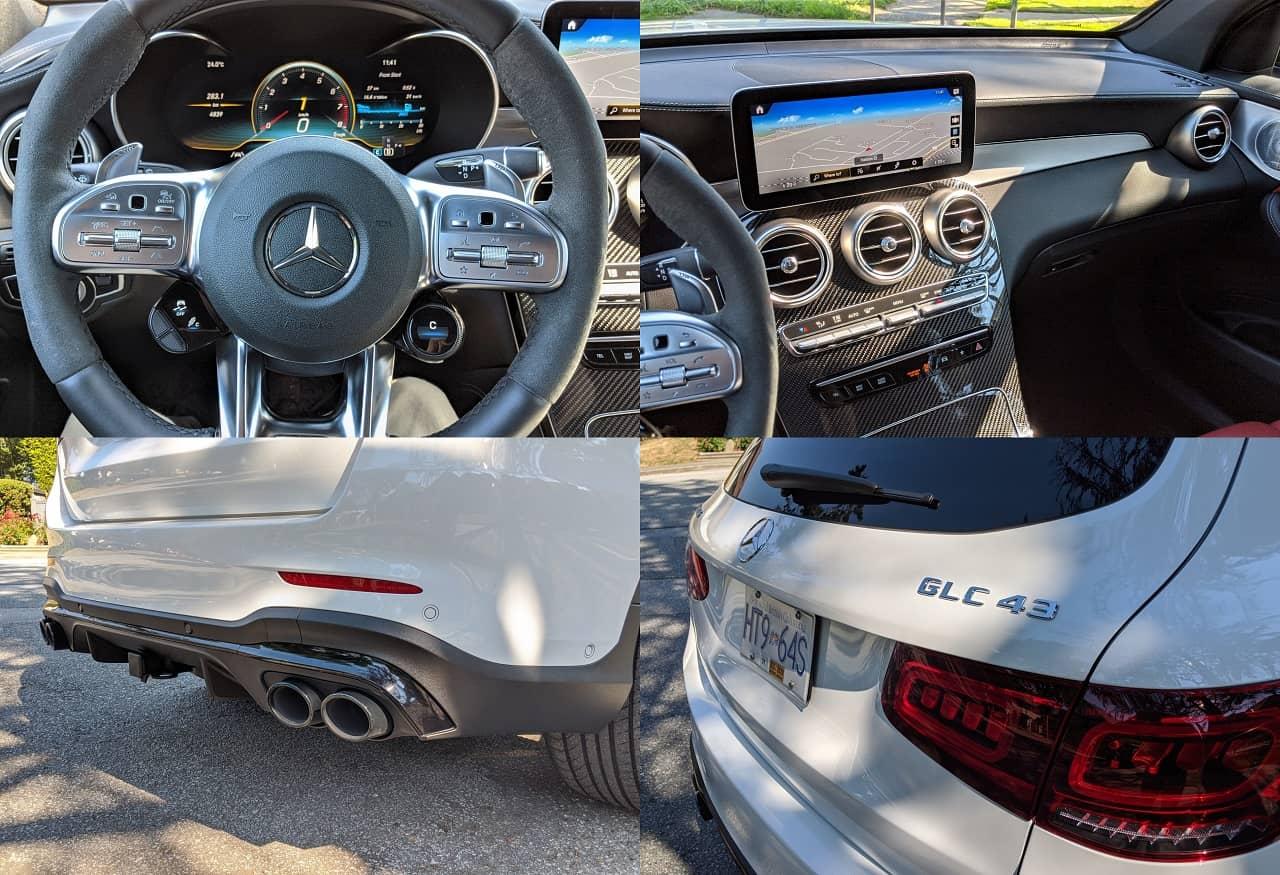 2020 Mercedes AMG GLC 43 collage