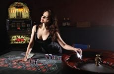 cards poker casino girl game play roulette money enlarged