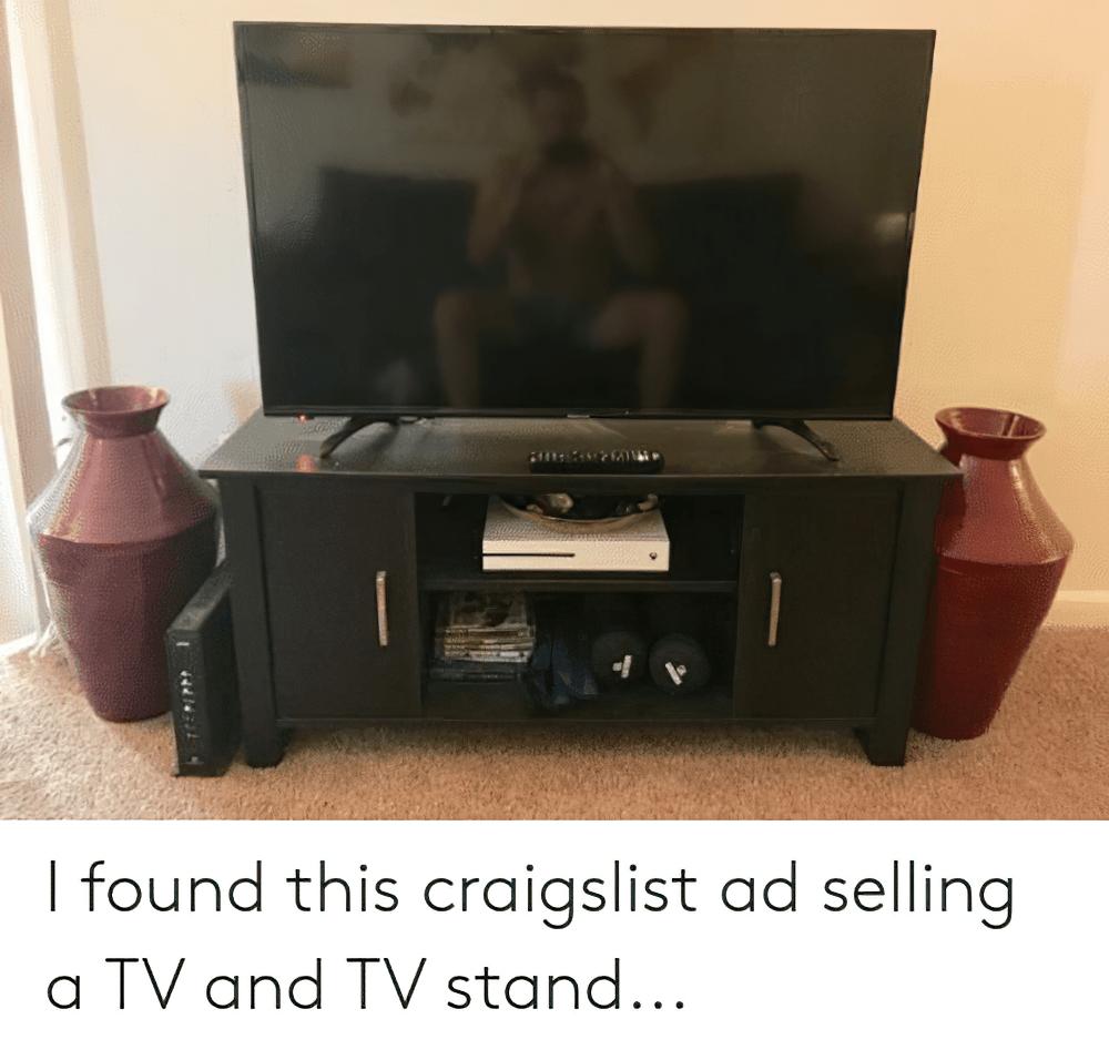 craigslist tv ad large enlarged