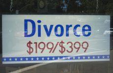 discount divorce sign