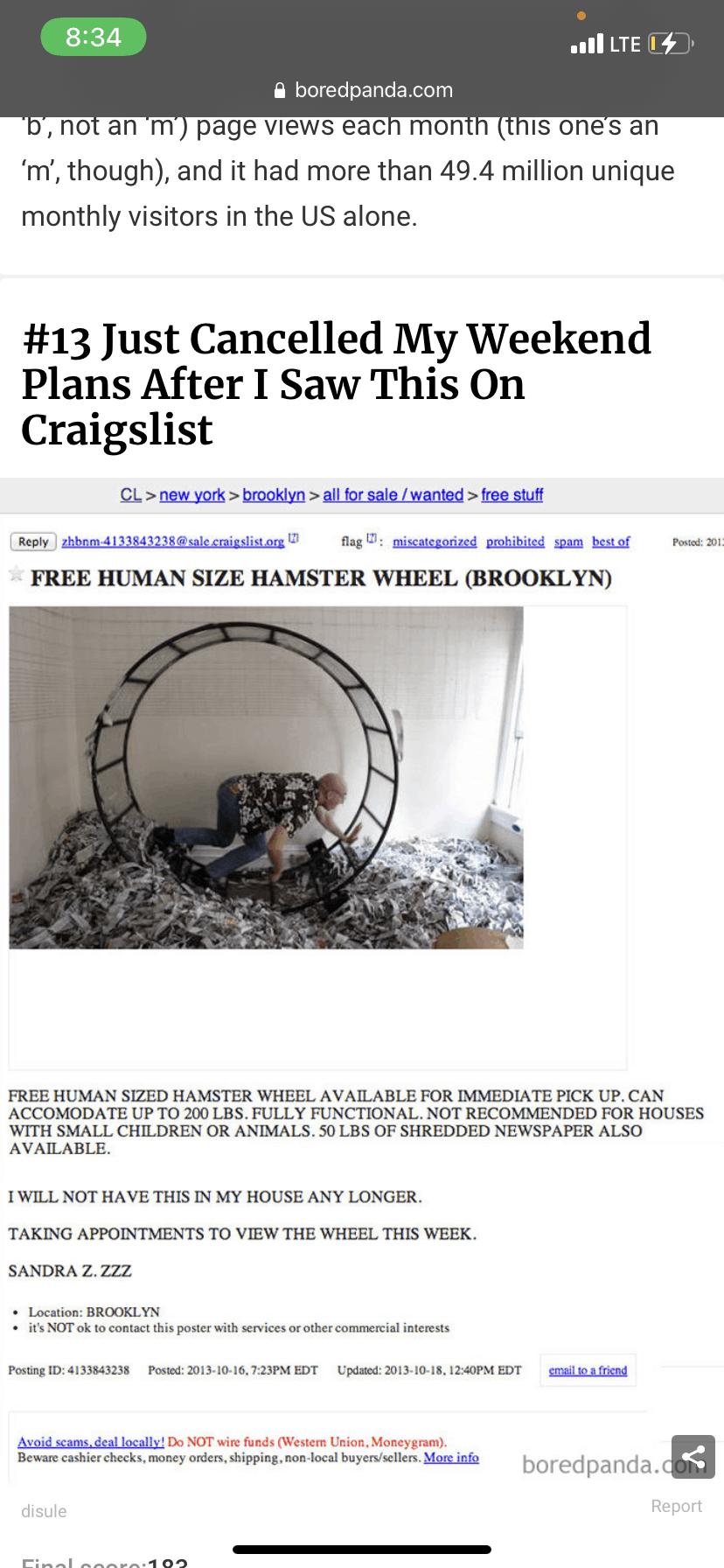 human size hamster wheel