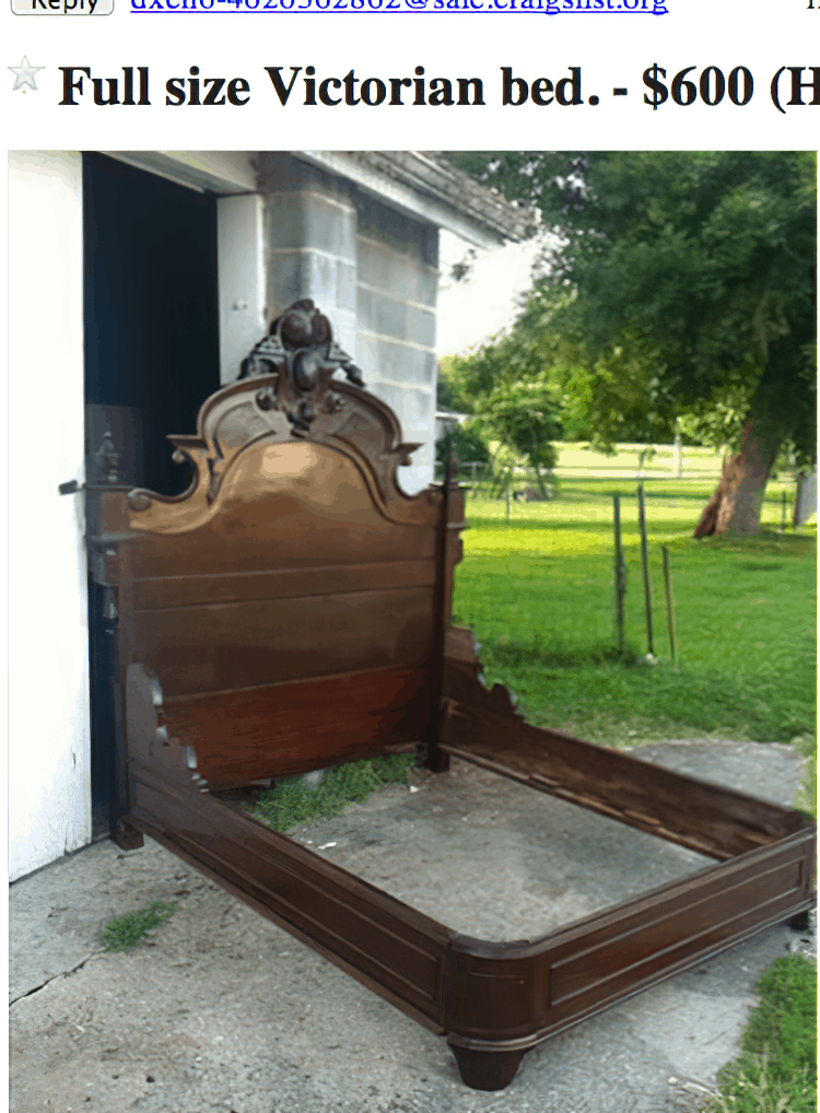 victorian bed frame enlarged