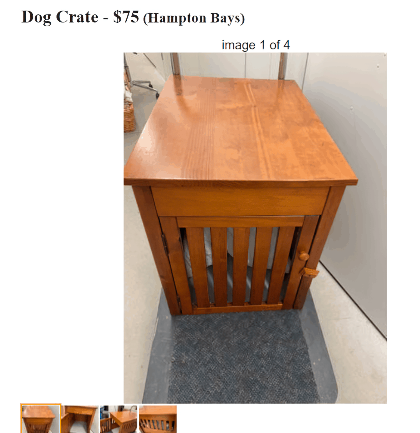 wooden dog crate enlarged