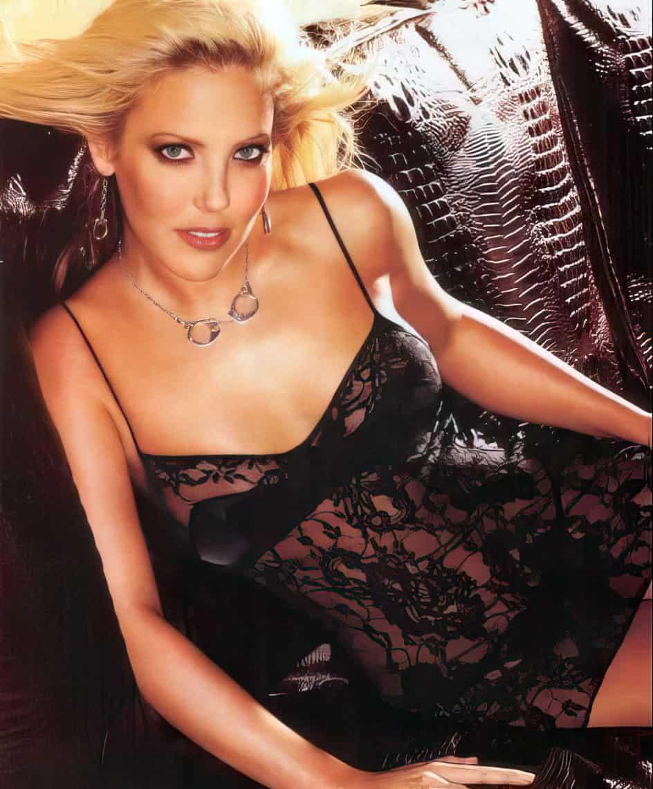 Mercedes McNab black lingerie