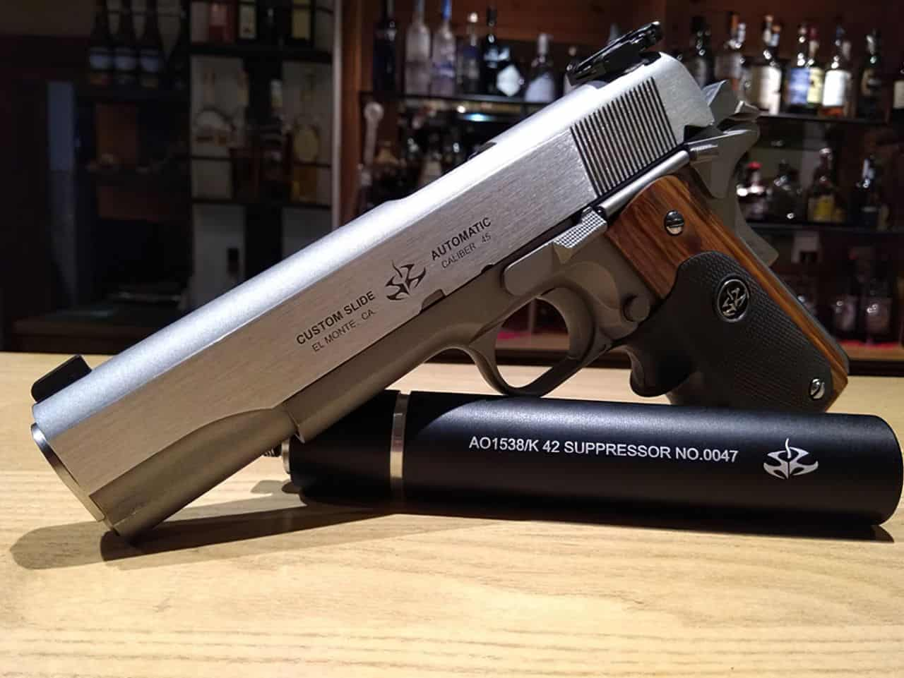 agent 47 45 acp silverballer handgun