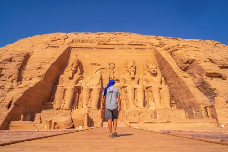 standing in egypt