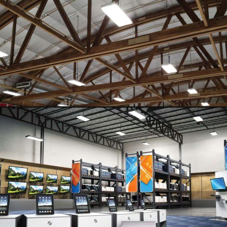 led ceiling warehouse bulbs