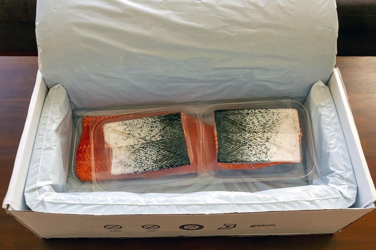 oshen salmon in box