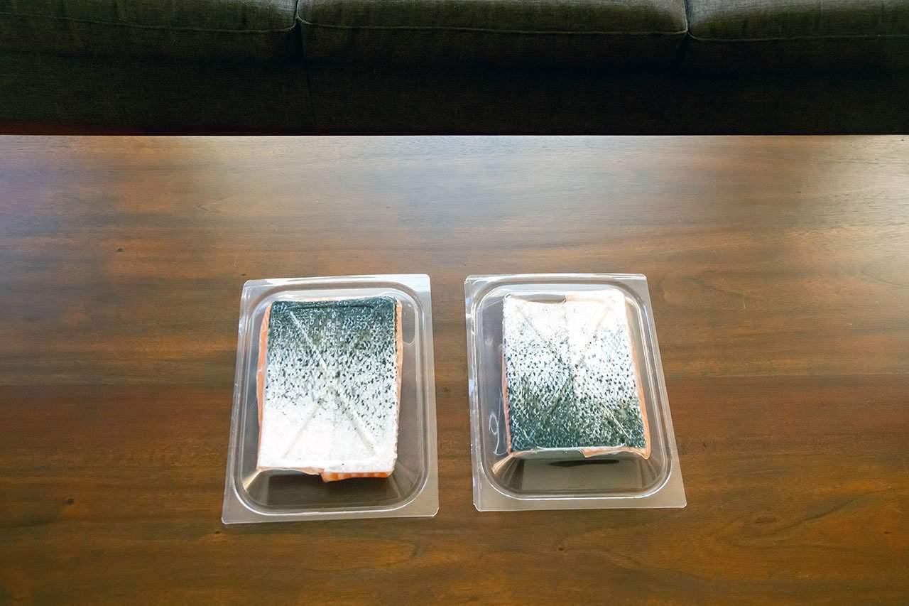 oshen salmon in plastic packaging