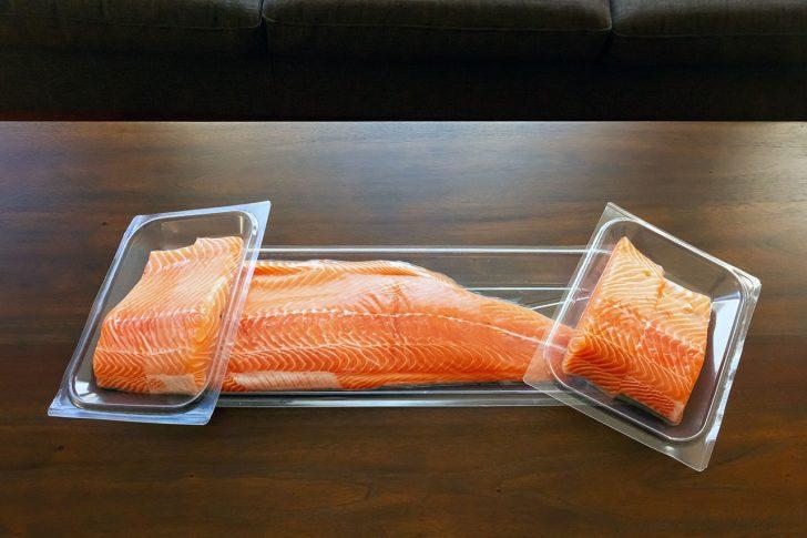 oshen salmon on table