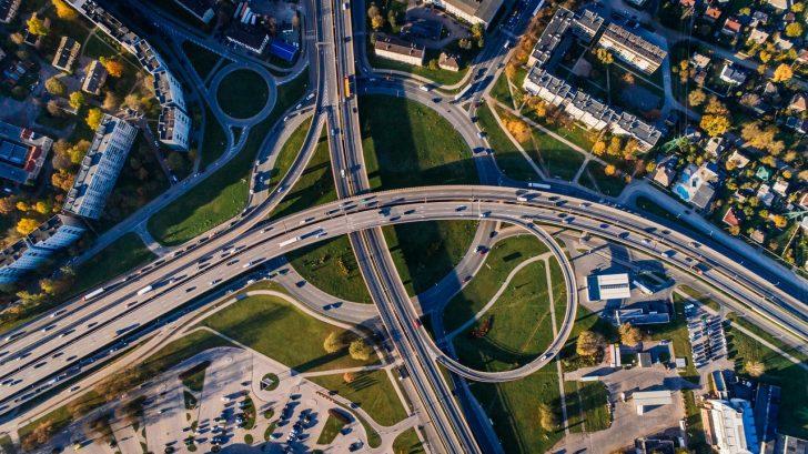 road birds eye view