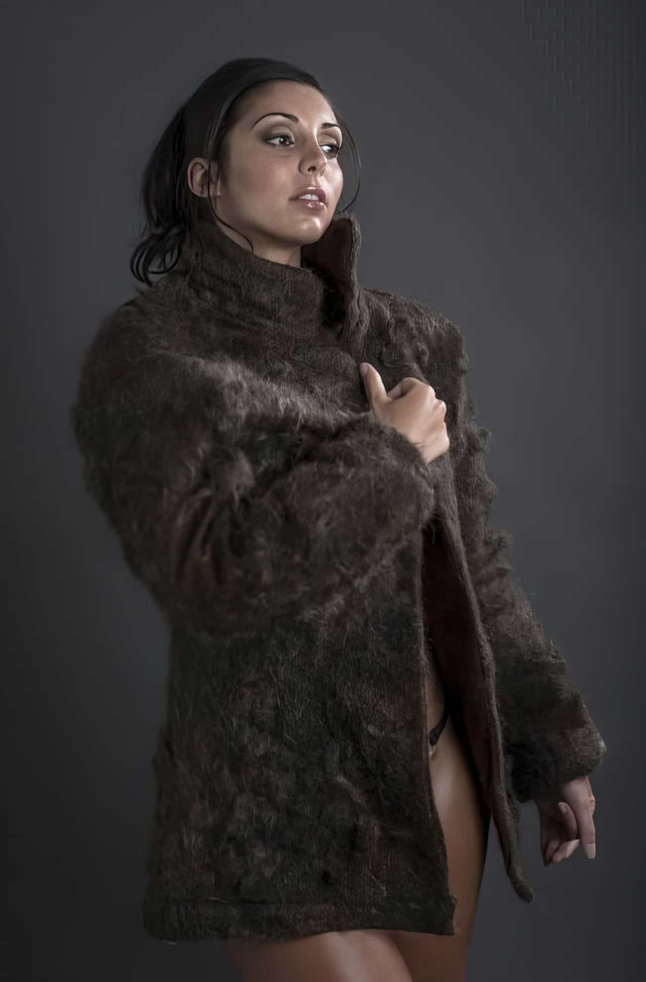 fur coat from male chest hair upscaled