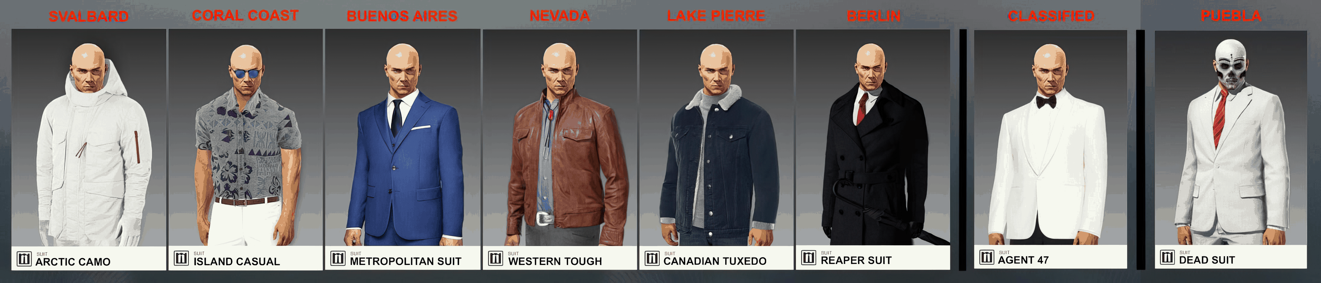more agent 47 suits