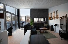 really nice apartment with guitars