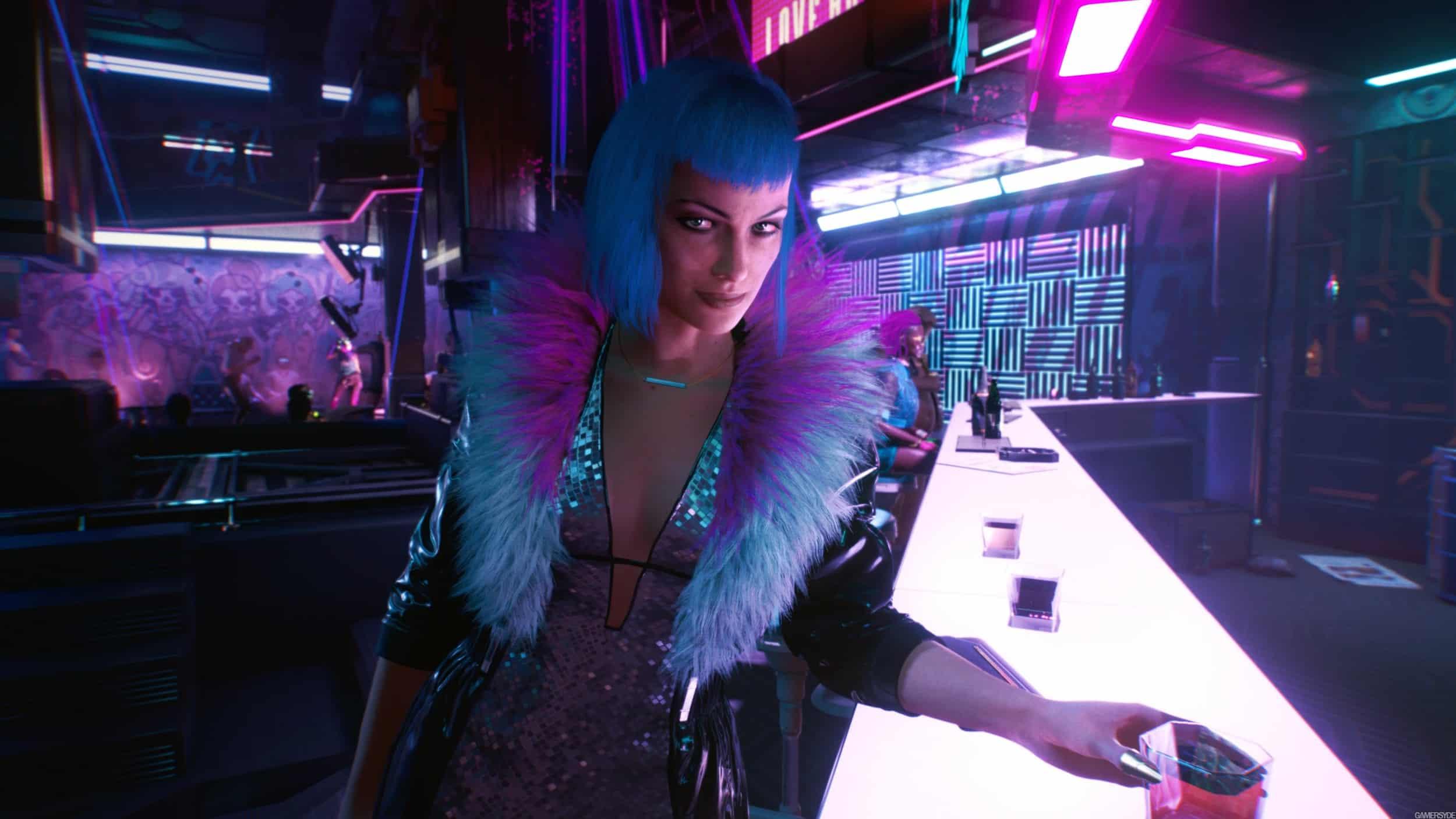 sexy lady in cyberpunk