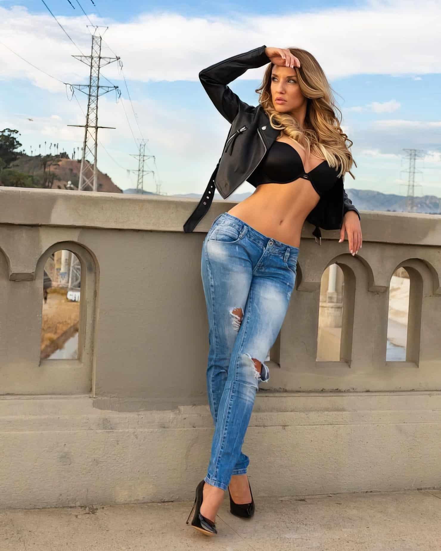 Anneta Eve on a bridge