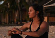 australian woman on the beach
