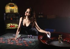 cards poker casino girl game play roulette money upscaled