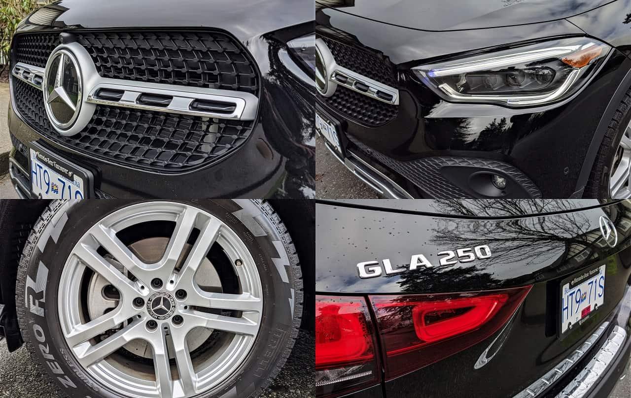 Mercedes Benz GLA 250 Collage