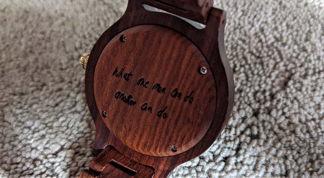Svenn Atlas Wood Watch case back