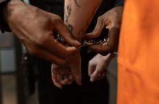criminal in handcuffs