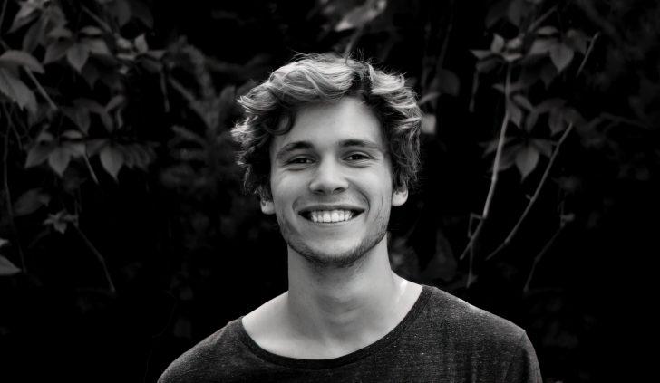 happy white man smiling