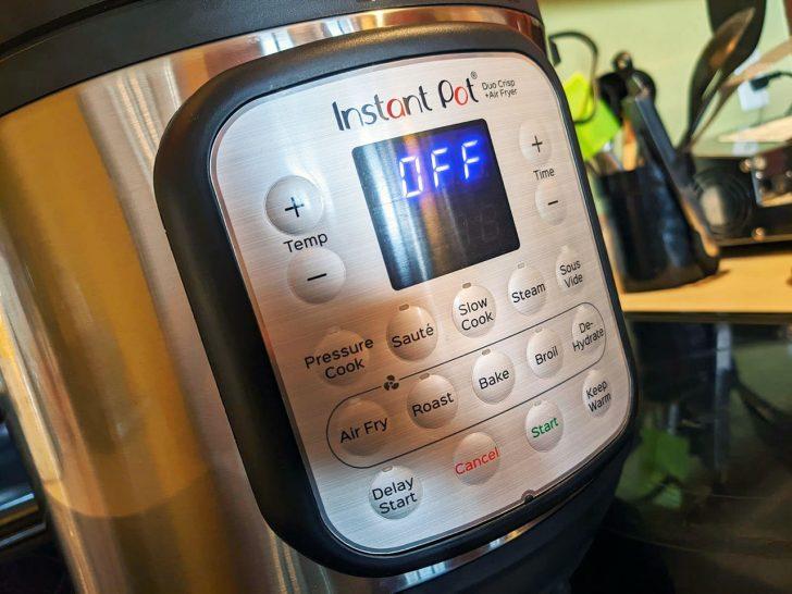 instant pot duo crisp control panel