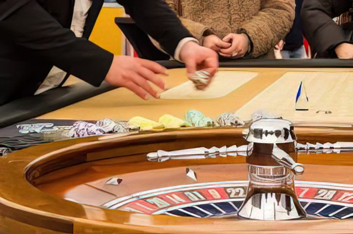 people at roulette wheel