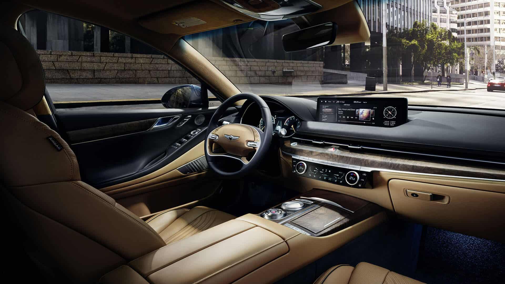 2021 Genesis G80 interior 2