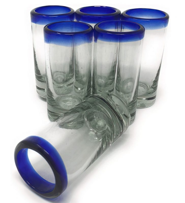 hand blown mexican shot glasses upscaled