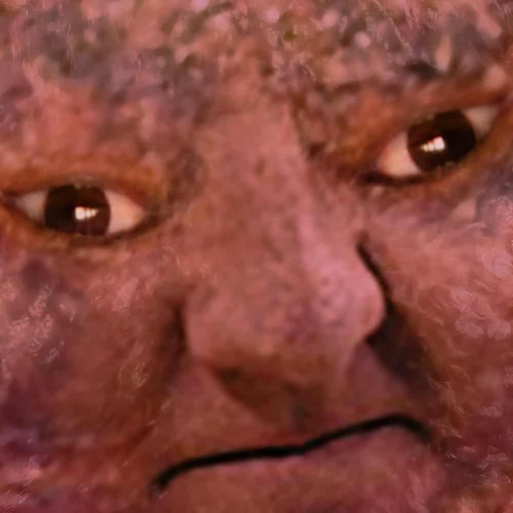 meatball man close up
