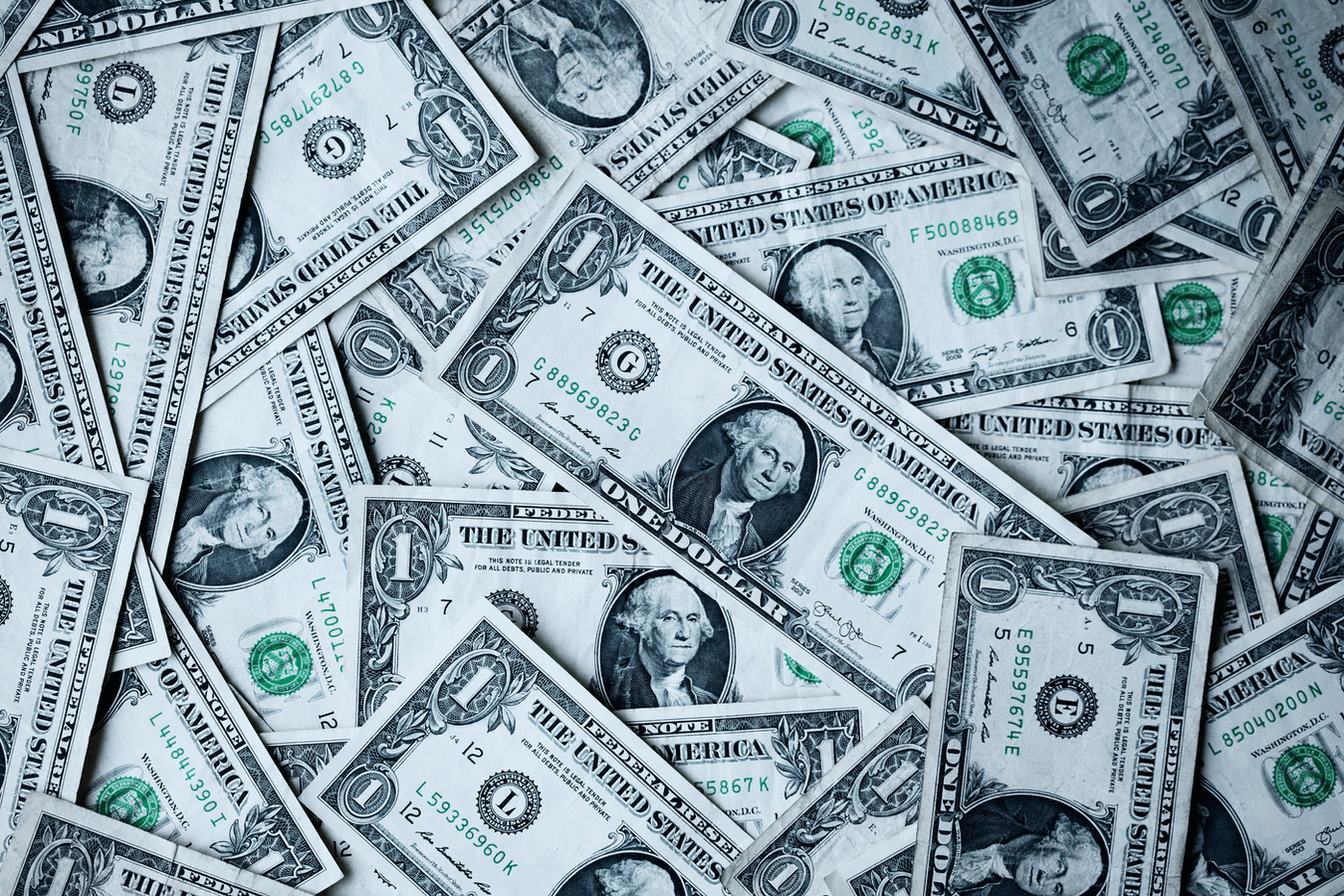 pile of flat cash
