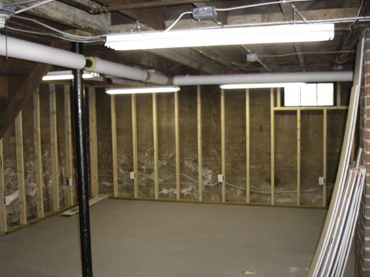 exposed basement walls