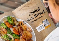 grilled chicken breast qr code upscaled