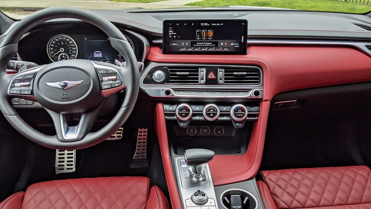 2022 Genesis G70 Red Interior