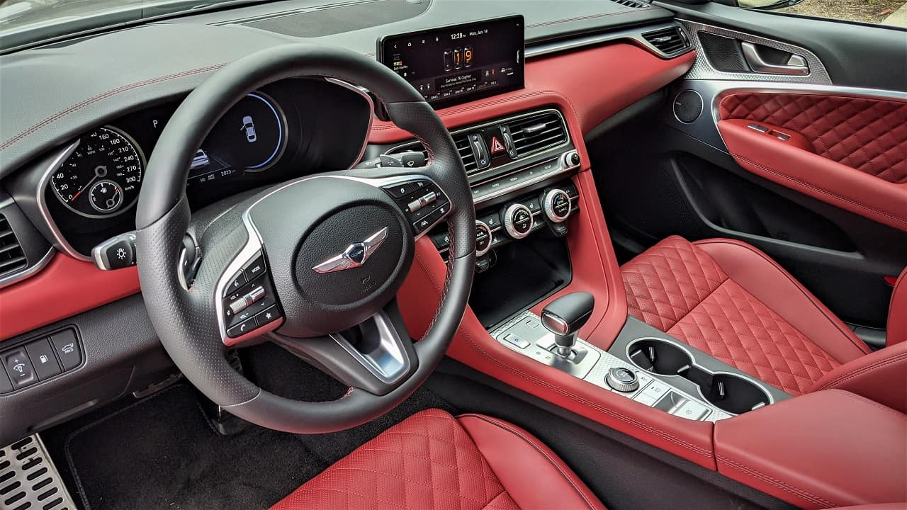 2022 Genesis G70 Red Nappa Leather