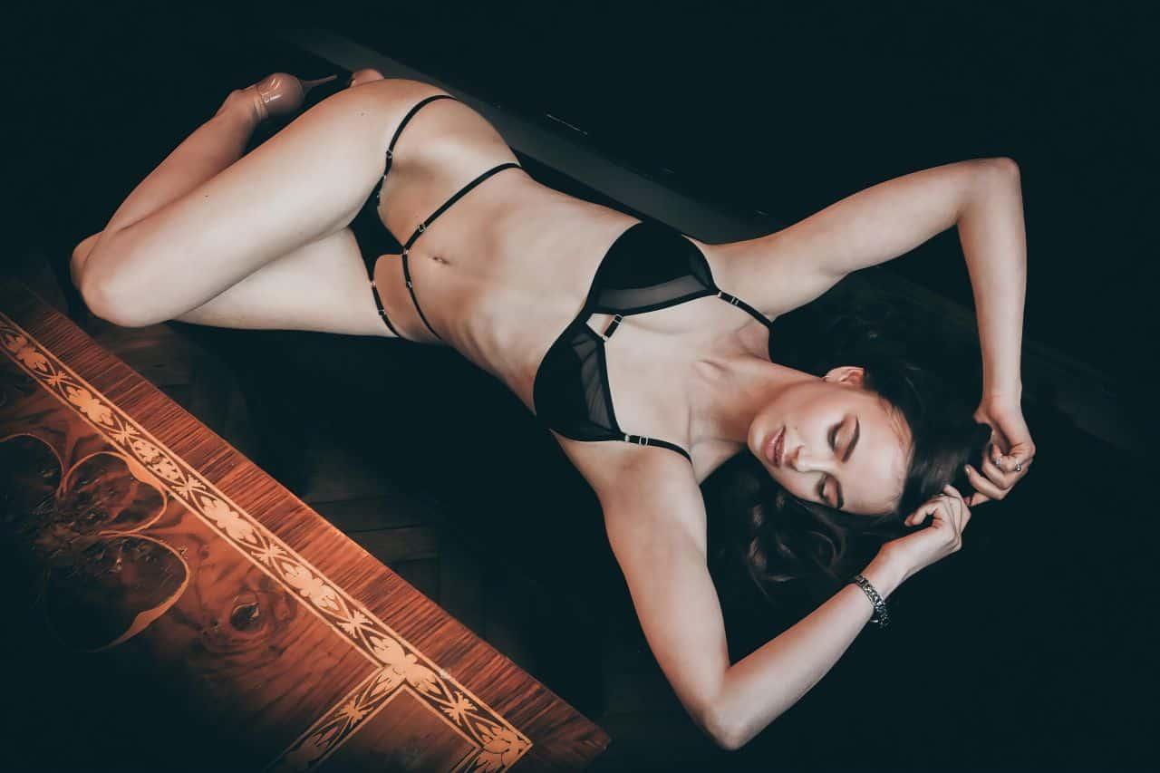 sexy woman wearing bikini-