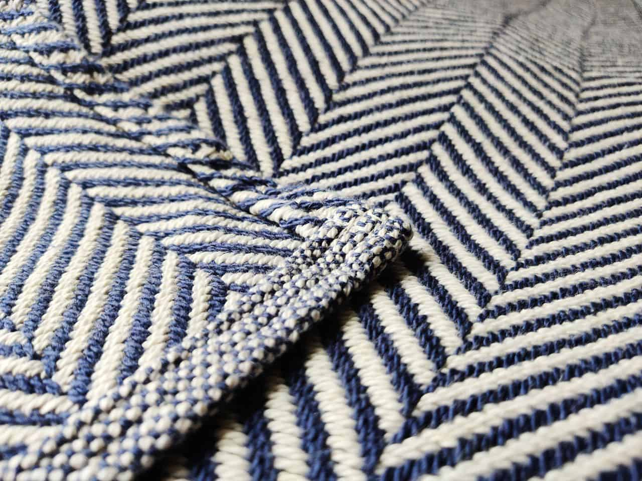 woven blanket up close