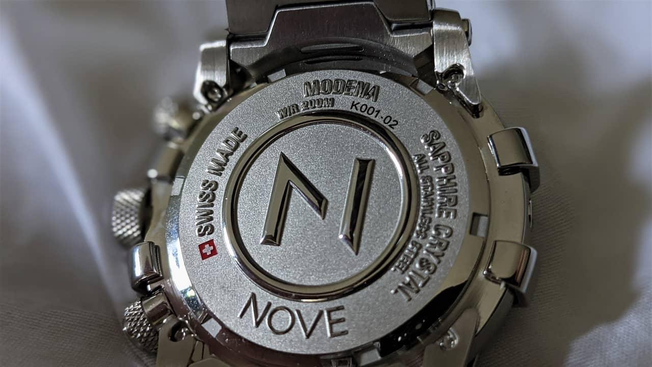 Nove Modena Chronograph Case back