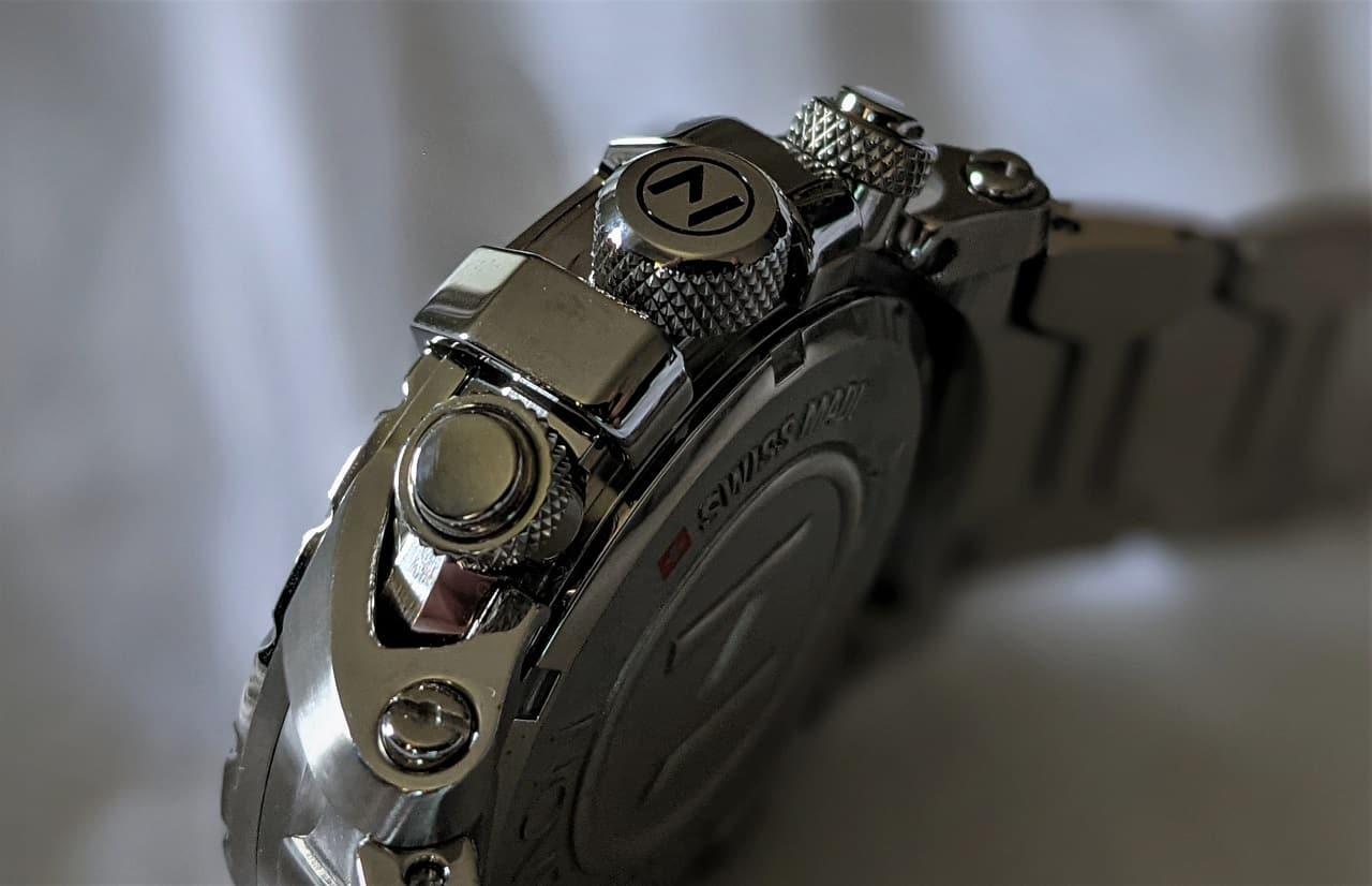 Nove Modena Chronograph Screw down crown