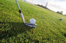 putting a golf ball