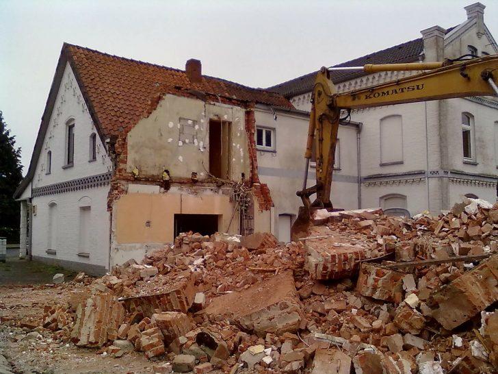 rubble demolition house