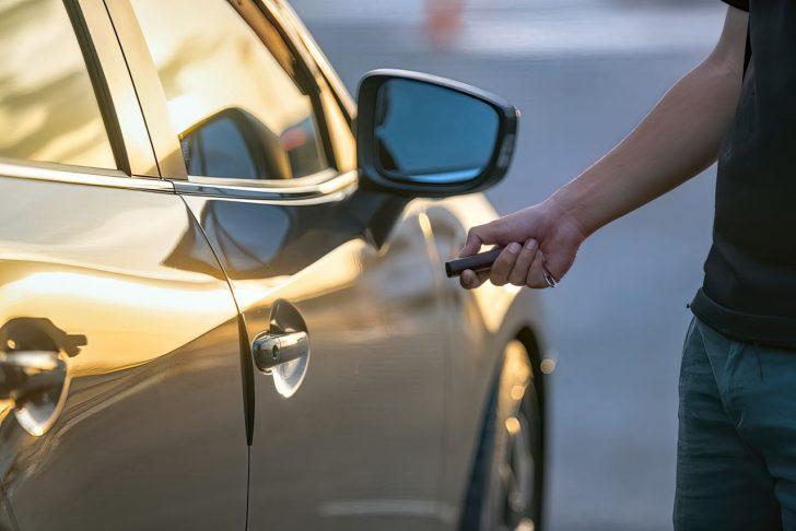 unlocking a car